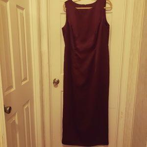 Wine long dress